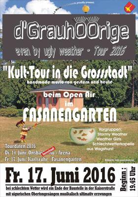 Plakat Kulttour in die Grossstadt