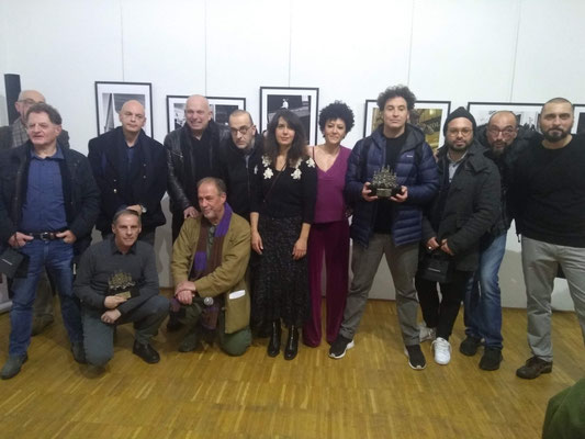 Among the winners together with the judges in the company of the legendary Ivan Origgi