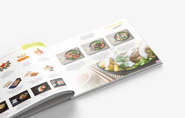 Conception et prise de vue du menu du restaurant NISSAIA à Charenton