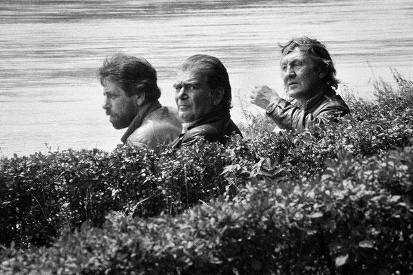 Trois hommes au bord du Danube - Passau