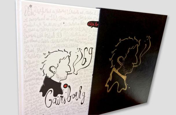 Intervention technique pour couverture Gainsbourg, verni sélectif et dorure - Kotoji Editions