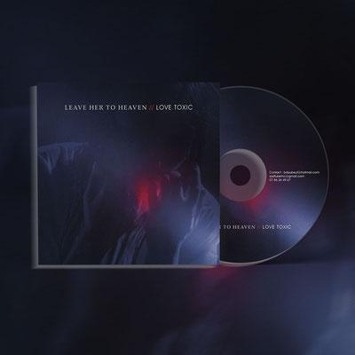 Design et photo de la pochette de disque du groupe Leave Her to Heaven
