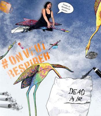 Déconfinement J3 - dehors ça pue (C) Poley Luard 2020 // dessin Emmanuelle Rico-Chastel