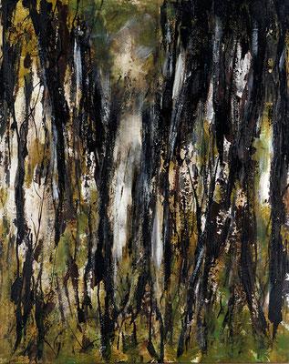 mixed media auf Hartfaserplatte, 80 x 100 cm