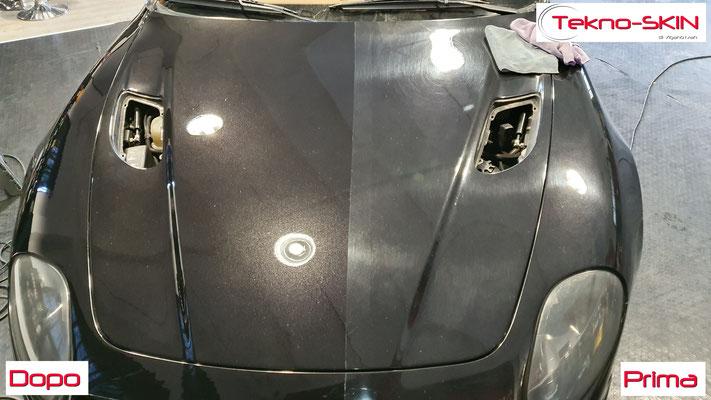 LUCIDATURA CARROZZERIA MASERATI GT3200  - Lucidatura 2 Step con Compound  - 3 Step con Gloss Polish   - Stesura Sigillante Finale effetto Seta - 50/50