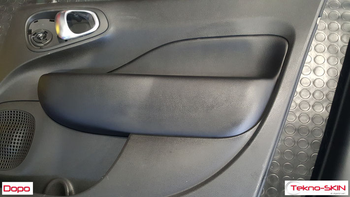 PANNELLI FIAT 500L - Ricolorazione da Bianco a Nero Bracciolo in Pelle - Dopo
