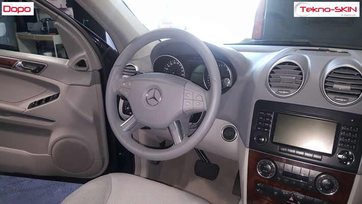 VOLANTE IN PELLE MERCEDES ML - Dopo