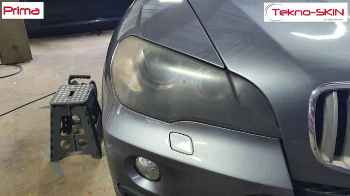 LUCIDATURA FARI ANTERIORI BMW X5  Lucidatura Avanzata - Prima