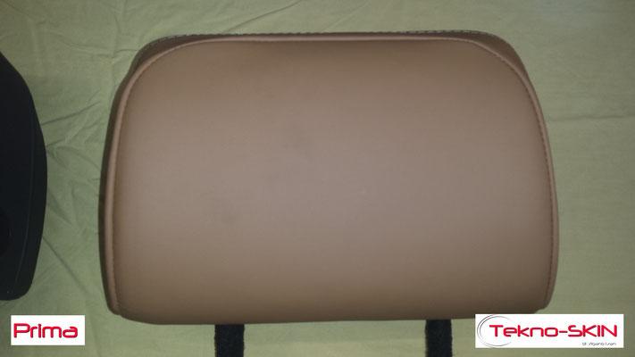 RICOLORAZIONE POGGIATESTA RANGE ROVER Colorazione del nuovo Poggiatesta prodotto artigianalmente per contenere schermo LCD con colore iniziale diverso reso poi identico all'originale. - Prima