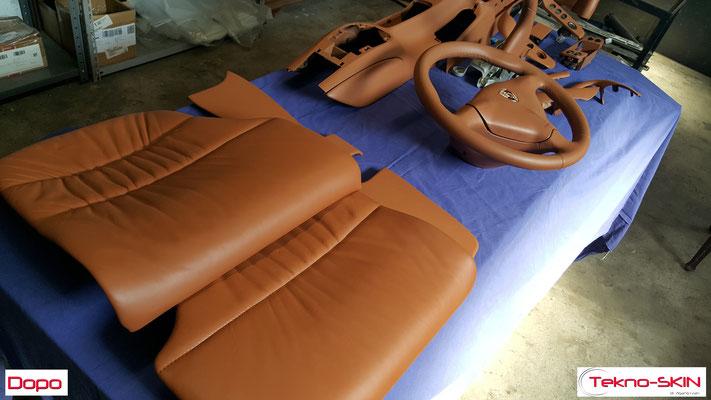 RICOLORAZIONE SEDILI PORSCHE TARGA Ricolorazione a campione sedili Anteriori e Sedute Posteriori - Dopo