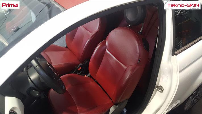 PULIZIA E SANIFICAZIONE FIAT 500 CABRIO  - Smontaggio Sedili Anteriori e Posteriori   - Pulizia e Sanificazione Completa  - Prima