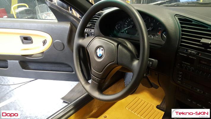 VOLANTE IN PELLE BMW 320i - Dopo
