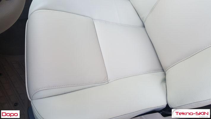 RIPARAZIONE  SEDILI ANTERIORI VOLVO XC90  Sostituzione Pelle Specchiatura Seduta e Schienale Sedile Lato Guida e Lato Passeggero - Dopo