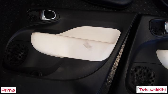 PANNELLI FIAT 500L - Ricolorazione da Bianco a Nero Bracciolo in Pelle - Prima