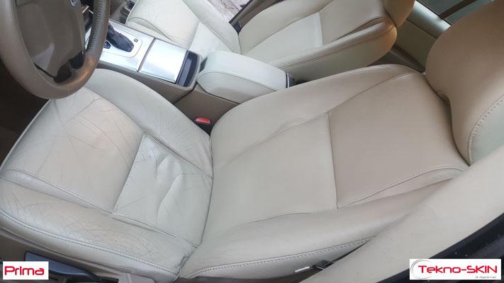 RIPARAZIONE  SEDILI ANTERIORI VOLVO XC90  Sostituzione Pelle Specchiatura Seduta e Schienale Sedile Lato Guida e Lato Passeggero - Prima