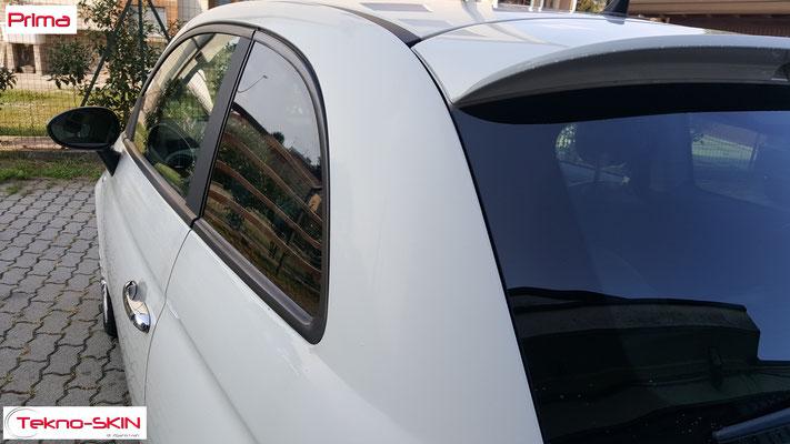 LUCIDATURA CARROZZERIA FIAT 500 - Lucidatura One Step - Applicazione Fissativo Effetto Seta - Prima