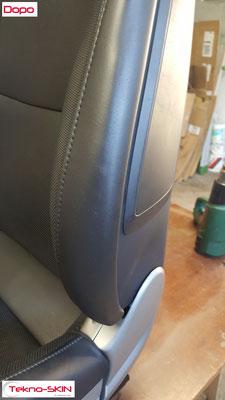 RIPARAZIONE FIANCHETTO PORSCHE 911 S Riparazione da Danneggiamenti su Fianchetto Esterno Sedile Lato Guida. Colorazione a campione - Dopo