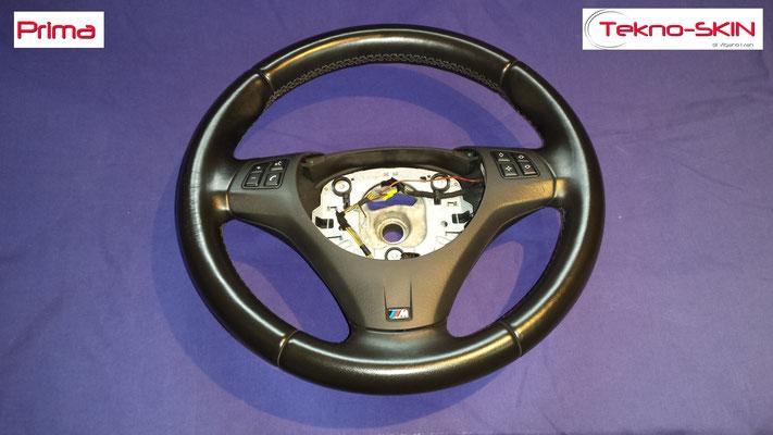 VOLANTE BMW Ripellamento completo in Alcantara e cuciture diamantate colori M3 - Prima