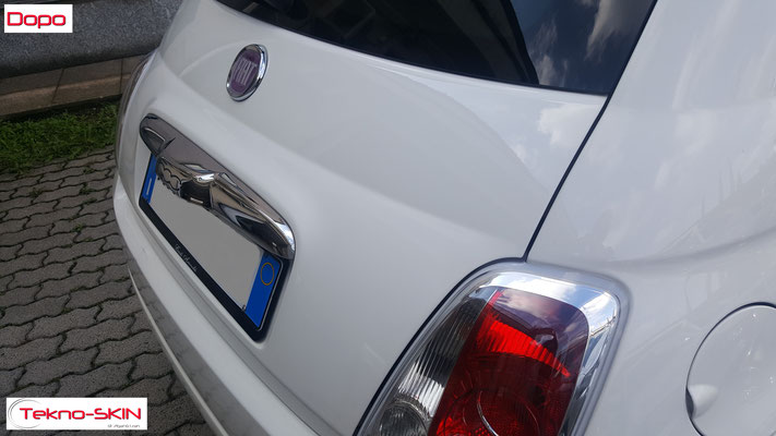 LUCIDATURA CARROZZERIA FIAT 500 - Lucidatura One Step - Applicazione Fissativo Effetto Seta - Dopo