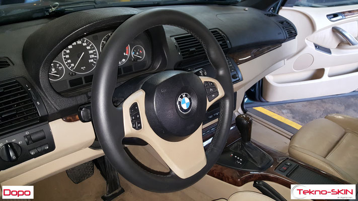 VOLANTE IN PELLE BMW X5 - Dopo