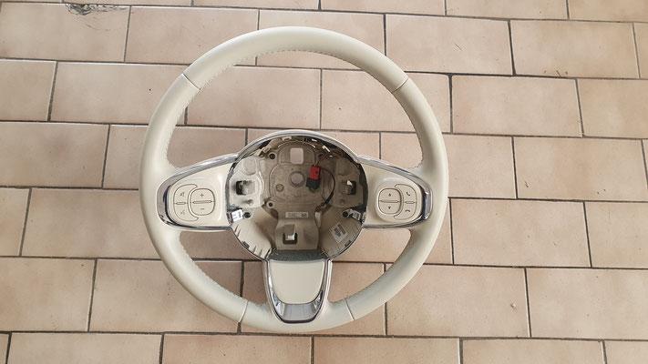 VOLANTE IN PELLE FIAT 500 - Dopo