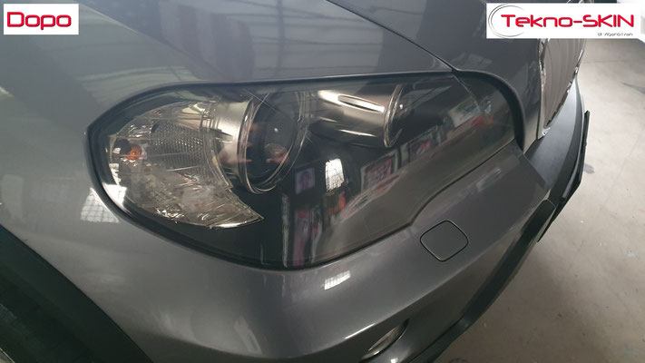 LUCIDATURA FARI ANTERIORI BMW X5  Lucidatura Avanzata - Dopo