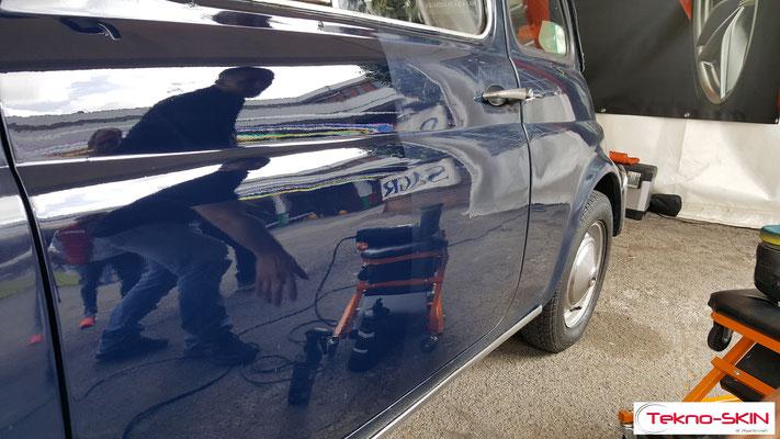 LUCIDATURA FIAT 500L 1972 - Durante la lavorazione 50/50