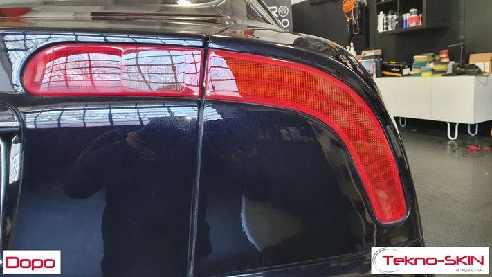 LUCIDATURA CARROZZERIA MASERATI GT3200  - Lucidatura 2 Step con Compound  - 3 Step con Gloss Polish   - Stesura Sigillante Finale effetto Seta - Dopo