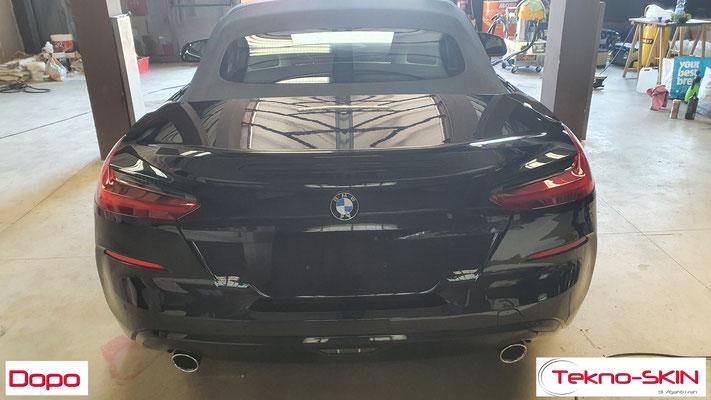 LUCIDATURA CARROZZERIA BMW Z4  - Lucidatura 2 Step con Compound  - Stesura Sigillante Finale effetto Seta - Dopo