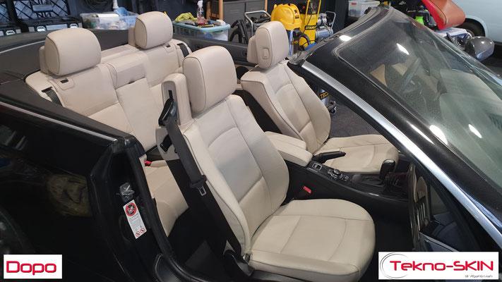 PULIZIA E SANIFICAZIONE BMW 320 CABRIO - Dopo