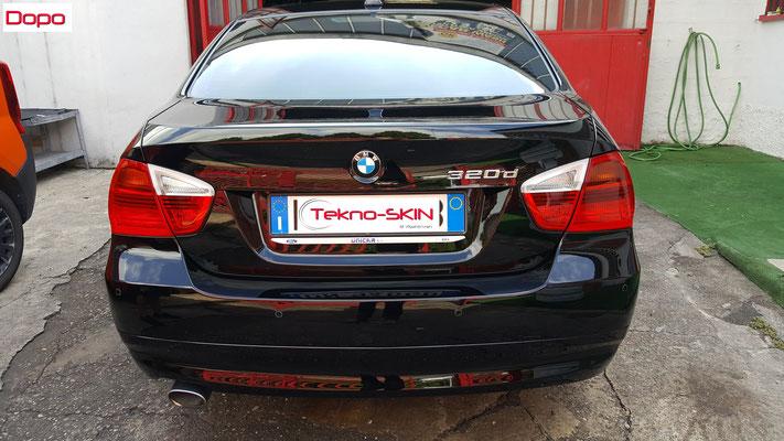 LUCIDATURA CARROZZERIA BMW 320  - Lucidatura 3 Step con Compound  - Stesura Sigillante Finale effetto Seta - Dopo