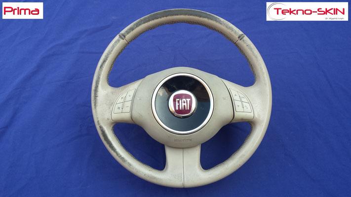 VOLANTE IN PELLE FIAT 500 - Prima