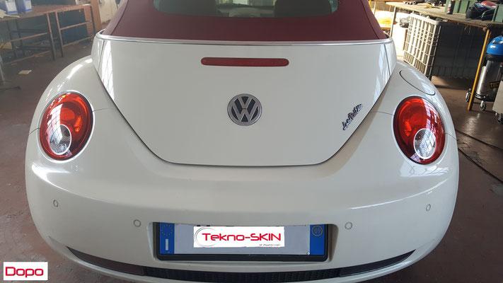 LUCIDATURA FARI POSTERIORI VW NEW BEETLE  Lucidatura Semplice - Dopo