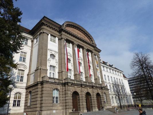 Leopold Franzes Universität Innsbruck Festlich geschmückt