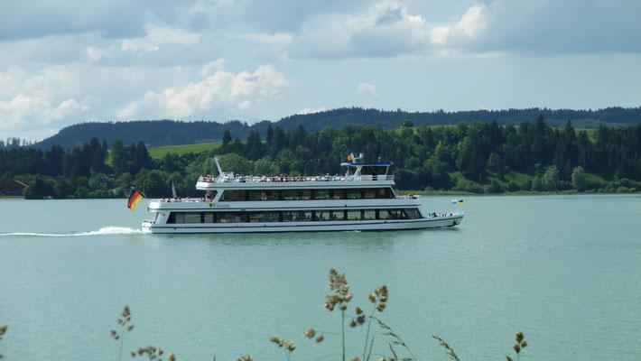 Schifffahrt am Forggensee