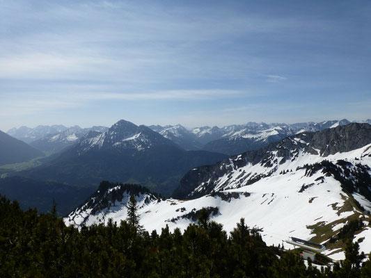 Ausblick Richtung Zugspitze