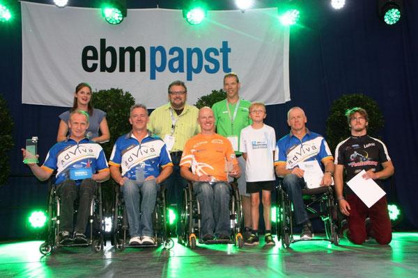 Siegerpodest ebmpapst-Marathon