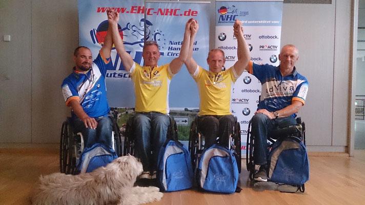 von links Oli Tanz, Jürgen Döringer, Torsten Purschke, Olaf Heine und vorne Popov