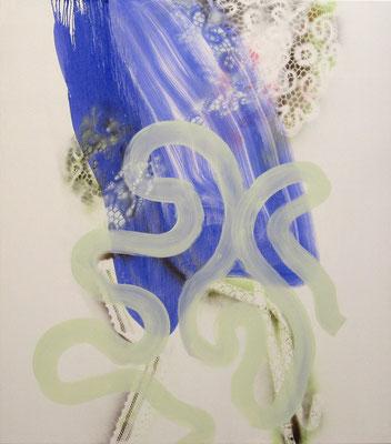 Blue Cape - 2012 - 150cm x 130cm - Oil/Lack on Canvas
