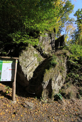 unteres Ende des Klettersteiges am Hölderstein