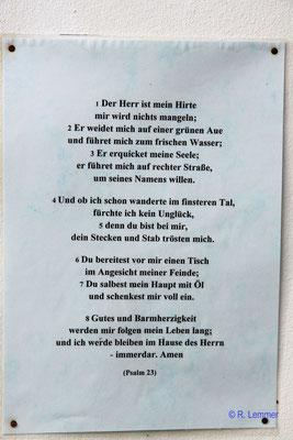 Übersetzung des Gebetes in Westerwälder Mundart