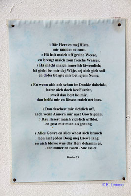 Gebet in Westerwälder Mundart
