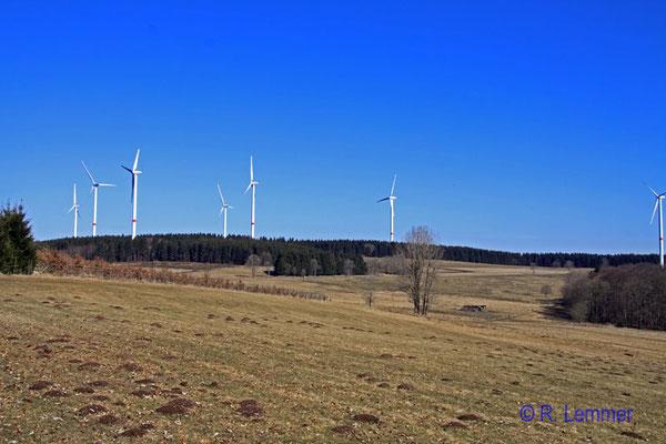 Blick Richtung Windpark Fuchskaute