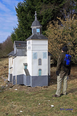 Modell der Herborner Stadtkirche Nähe des Heisterberger Weiher