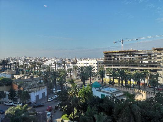 Blick aus dem Hotel auf Casablanca
