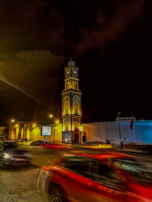 Hassan II: Moschee bei Nacht