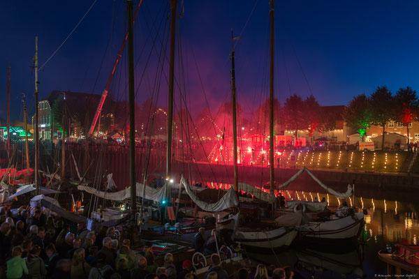 Lichtermeer Hafen in Flammen, Hafen von Carolinensiel