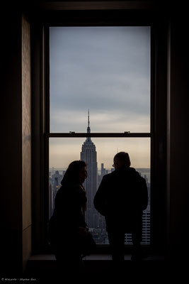 Blick auf Empire State Building • Top of the Rock, Rockefeller Center, New York