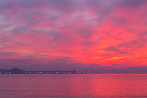 Sonnenaufgang an den Löschbrücken