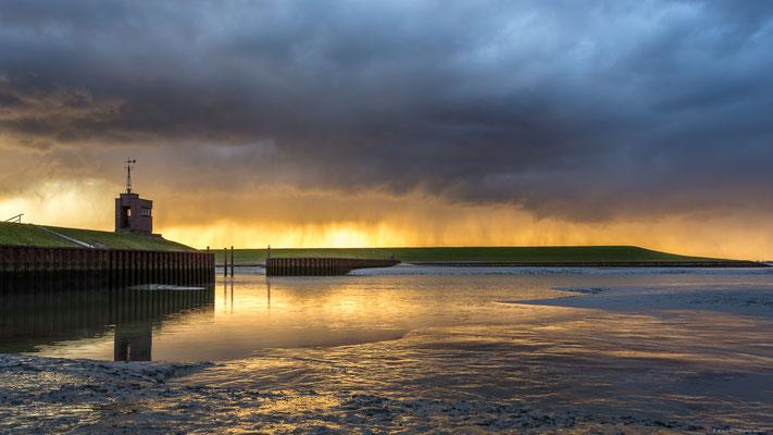 Sonnenuntergang am Strand von Dangast